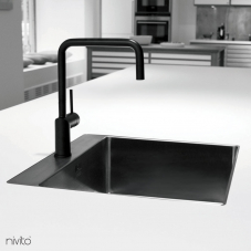 黒 キッチン蛇口 - Nivito 1-RH-320