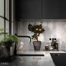 黒 キッチン 水 タップ