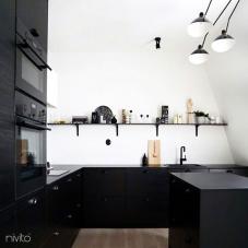 黒 キッチン蛇口 - Nivito 13-RH-320