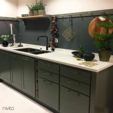 黒 キッチン蛇口 - Nivito 14-RH-320