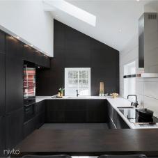 キッチン 水 タップ 黒