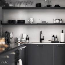 黒 キッチン蛇口 - Nivito 21-RH-320