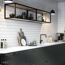 黒 キッチン蛇口 - Nivito 22-RH-320