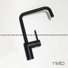 黒 キッチン蛇口 - Nivito 23-RH-320