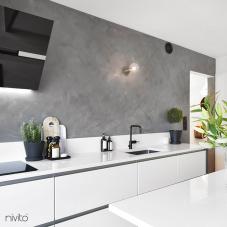 黒 キッチン蛇口 - Nivito 4-RH-320
