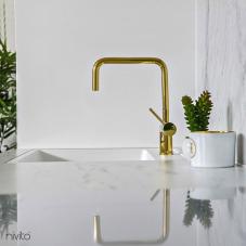 金 真鍮 キッチン 蛇口