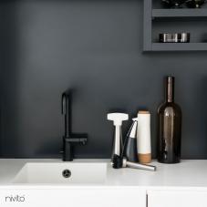 黒 キッチン蛇口 - Nivito 7-RH-320