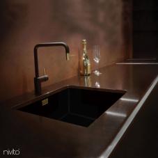 真鍮/金 キッチン蛇口 ブラック/ゴールド/ブラス - Nivito 2-RH-340-BISTRO