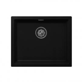 黒 台所の洗面器 - Nivito CU-500-GR-BL