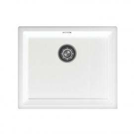 白 台所の洗面器 - Nivito CU-500-GR-WH