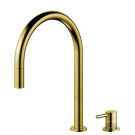 真鍮/金 キッチンタップ プルアウトホース / 分離ボディ/パイプ - Nivito RH-140-VI