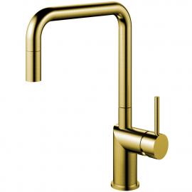 真鍮/金 キッチンタップ プルアウトホース - Nivito RH-340-EX