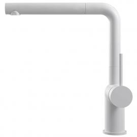 白 キッチンタップ プルアウトホース - Nivito RH-630-EX