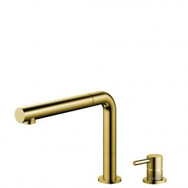 真鍮/金 キッチンタップ プルアウトホース / 分離ボディ/パイプ - Nivito RH-640-VI